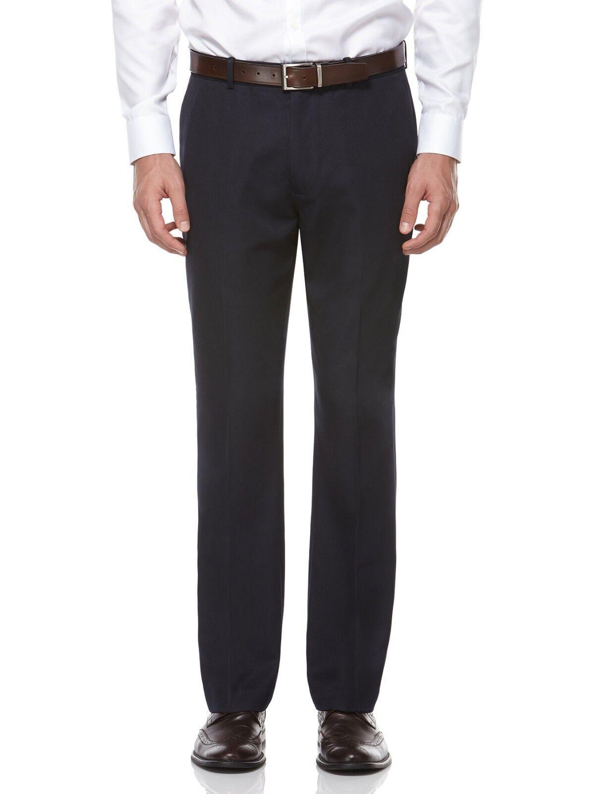 PERRY ELLIS PORTFOLIO men blueE FLAT FRONT FIT SUIT DRESS PANTS 38 W 32 L