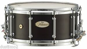 PEARL-PHX1465-14-034-x-6-5-034-PHILHARMONIC-4-PLY-AFRICAN-MAHOGANY-SNARE-DRUM-WALNUT