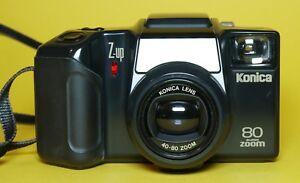 Temperamentvoll Z-up Konica 80 Super Zoom Kompaktkamera Kamera Mit Lens 40-80 Zoom T305 I Analoge Fotografie