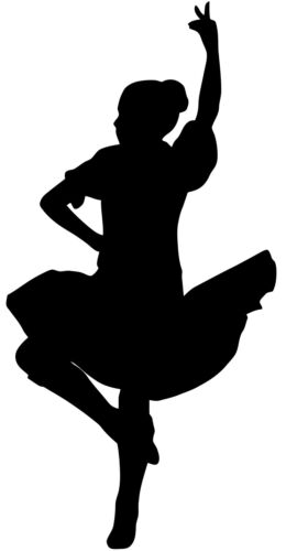 Highland Dancer Silhouette Scottish Scotland 7cmsWall Art Decal Sticker Picture