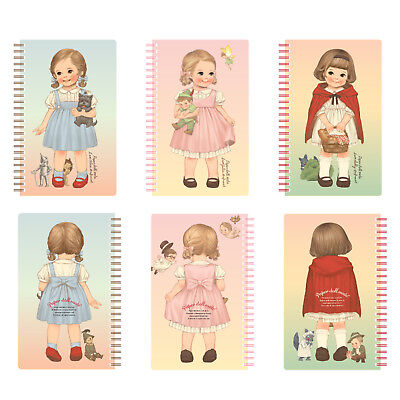 Afrocat Paper Doll Mate Spring Note Ver.3 Alice Julie Sally Fancy Memo Dairy
