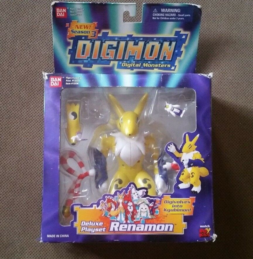 DIGIMON SEASON 3 DELUXE PLAYSET RENAMON With Box  Read Description
