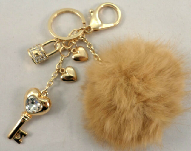 RHINESTONE BLING KEY CHAIN FOB PURSE CHARM HIGH HEART CHARMS NEW
