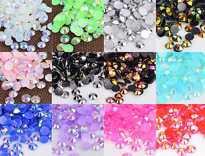 3mm/4mm Jelly AB Resin Rhinestones Drill DIY Scrapbooking for phone/craft