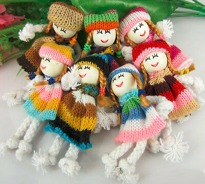20Pcs Mixed Cute Pattern Dress Girl Small Doll Appliques craft/Sewing/Decoration