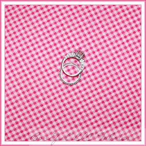 BonEful-Fabric-FQ-Pink-White-Seersucker-Cotton-Check-Baby-Gingham-Check-Block