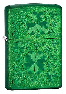 Zippo Choice Clover Design Translucent Meadow Windproof Lighter 28354