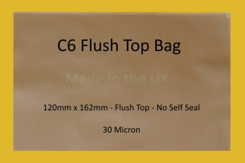 Cellophane Display Bag for Cards or Arts Flush Top Clear Cello Display Bags