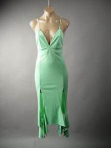 Mint-Green-Sculptural-Fishtail-Ballroom-Elegant-Evening-Midi-237-mv-Dress-M-L