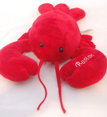 "Red Lobster Boston Mary Meyer Lobbie Soft Plush 15"" MA Toy Seafood Souvenir"