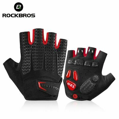 Non Slip Unisex Sports Half Finger Gloves Cycling Bike Bicycle Racing Glove Kit