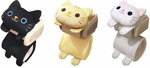 Cat Toilet Paper Holder Roll Storage Cover Black Tiger White Kitty Kawaii Japan