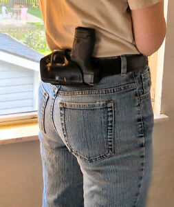 Details about Small of Back Pro SoB Leather Holster Fits M&P Shield Holster   45,Made in USA