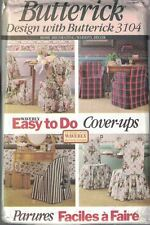 Butterick Waverly Sewing Pattern 3104 Easy Cover Ups Chair Covers Home Decor