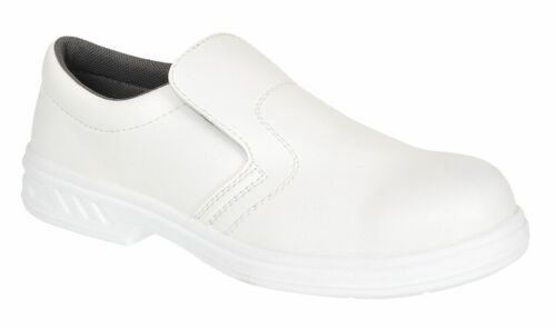 Portwest Steelite Slip On Safety Shoes Hospital Medical Food Catering Chef FW81