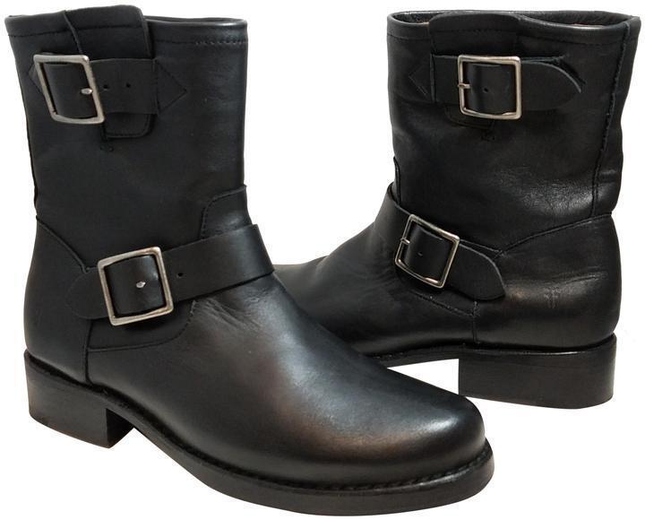 Nuevo Negro para Mujer Vicky ingeniero ingeniero ingeniero Frye cuero botas Sz 7M  precio al por mayor