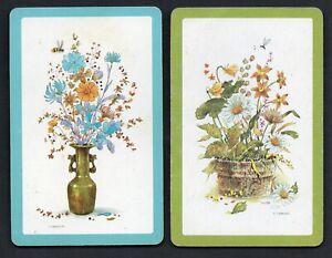 FLOWER-PAIR-05-Vintage-Playing-Swap-Cards