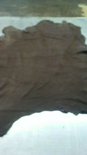 "Special Italian /""Thin/""  Nubuck Veg Tanned  skin hide  brown 1.5 oz. 6 Sq.Ft"