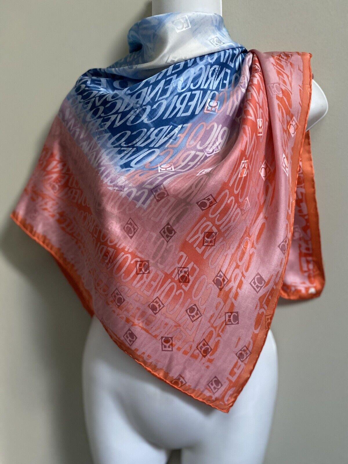 Vintage~Rare~Enrico Coveri Silk  Generous Big Sca… - image 1