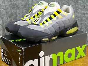 sneakers for cheap 9e379 e89a6 Details about DS 1995 OG Nike Air Max 95 Sz 13 Grey/Neon - original vintage  cool yellow box 1