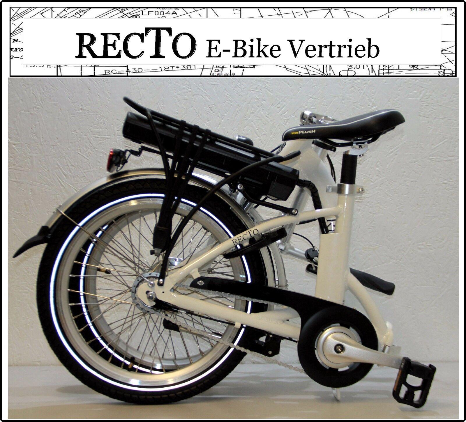 Deluxe Elektrofahrrad E Bike Faltrad 20Zoll Klapprad Freilauf 7 Shimano 7 Freilauf GANG NEU aba288