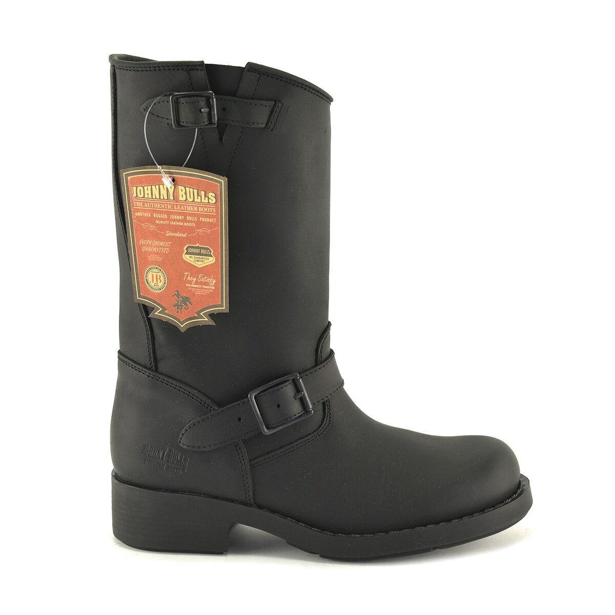 Para Hombre Ingeniero botas de cuero para motocicleta negra de nosotros tamaño 6 7 8 9 10 11 12 13