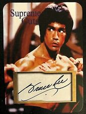 BruceLee MMA Hollywood Supreme Cuts Facsimile Autograph Sample Card