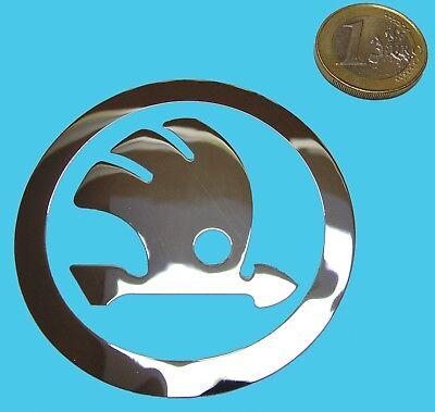 SKODA Metallic Chrome Effect Sticker Logo Sticker 60x70mm
