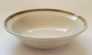 Country Living Stoneware Cereal Bowl Japan Speckled Yellow Rim Yamaka 6 1/2""
