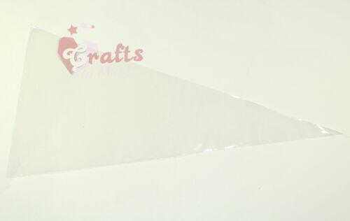 50 qualité clair cône cellophane douxparti sacs transparents18cm x 37cm