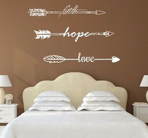 Image Is Loading Wall Decals Quotes Arrows Faith Hope Love Decor