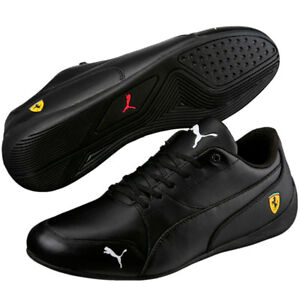 02bac084a10 Puma Drift Cat 7 Black Ferrari Leather Men s Shoes New In Box Style ...