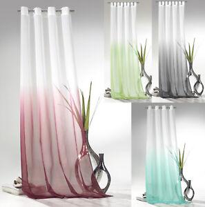Osenschal-Schlaufenschal-Gardine-m-Farbverlauf-Voile-transparent-Okotex-Typ501