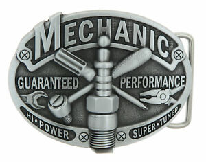 Mechanic Tradesman Bronze Plated Metal Belt Buckle