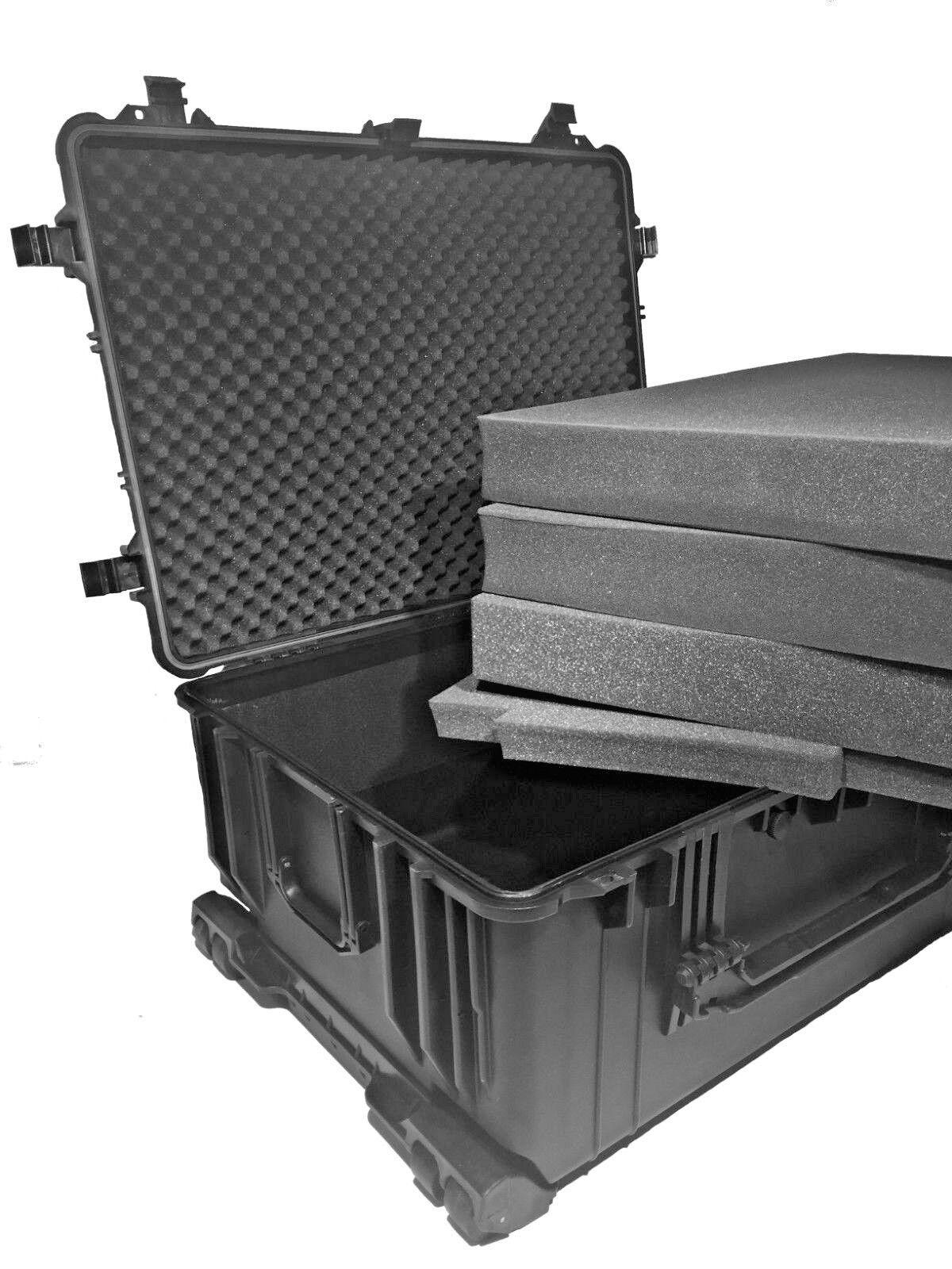 GRANDE MALLETTE TROLLEY + MOUSSES 730x530x320mm ETANCHE ANTI CHOC Flumière CASE