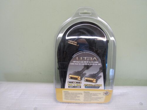 NEW ULTRA 16FT DUAL LINK DVI-D 24 PIN CABLE