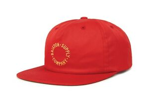 37ab87f2015 NWT Brixton Mens Feature Snapback Cap HAT OSFM Men s Adjustable Red ...