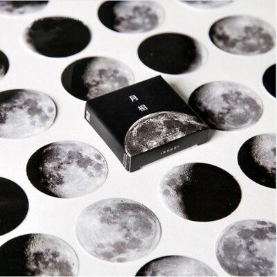 45Pcs/box Cute Creative Moon Mini Paper Sticker Diary Scrapbooking Label Sticker