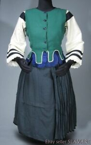 6ec35fbdf Image is loading ANTIQUE-Slovak-Folk-Costume-homespun-linen-blouse-vest-
