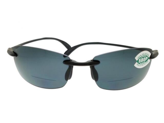 4f3c29ae917 Buy Costa Del Mar Ballast Shiny Black Sunglasses Grey Lens 580p 1.5 ...