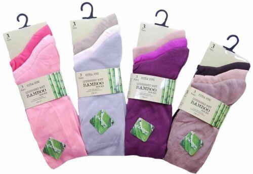 Ladies Girls 6,12 Pairs Pack Bamboo Extra Fine Anti Bacterial SE088 Socks UK 4-7