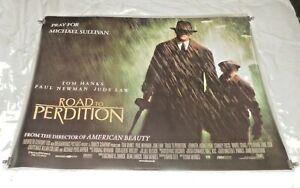 Road To Perdition Original UK Quad Movie Cinema Poster Main Ver 2002 Tom Hanks