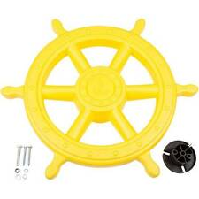 SWING SET STUFF SHIPS WHEEL YELLOW wood playground accessory pirate fort 0230