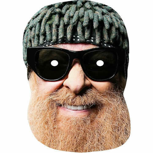 Billy Gibbons All Masks Are Pre Cut ZZ Top Celebrity Singer Fun Card Mask