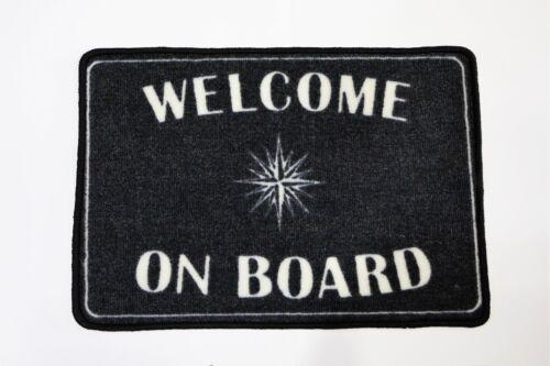 DOORMAT WELCOME ON BOARD DECORATION NAUTICAL 45 X 65 CMS BATH SHIP