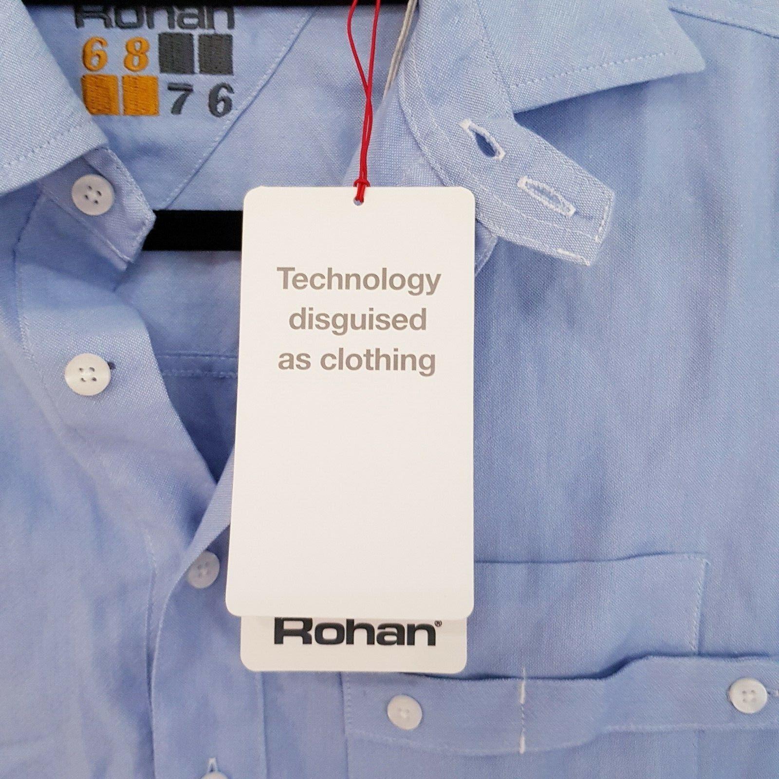 Rohan 68 76 da uomo uomo uomo borve Camicia a Maniche Lunghe Oxford blu Taglia Small S d7bd0b