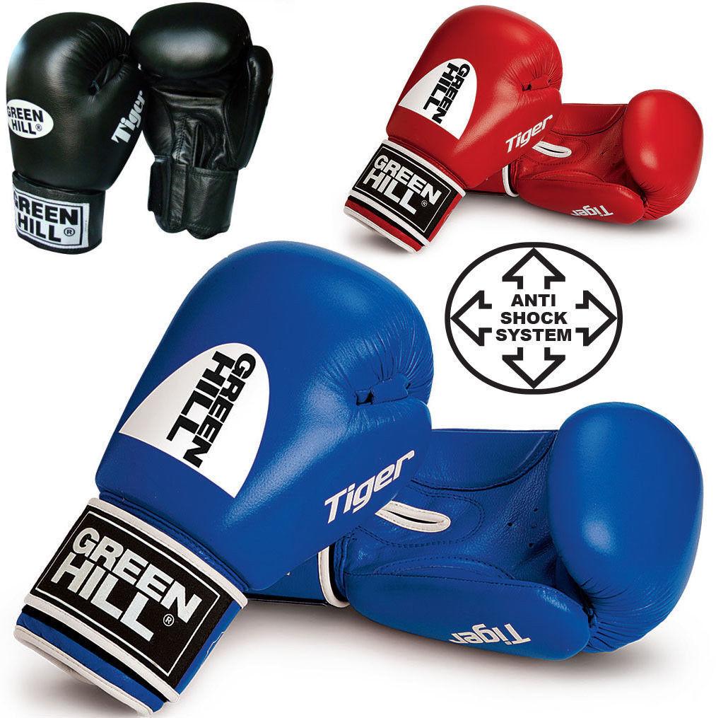 Grünhill Tiger ROT 16 Oz Leder Boxing Gloves Training Training Gloves Sparring MuayThai Punch ae952f