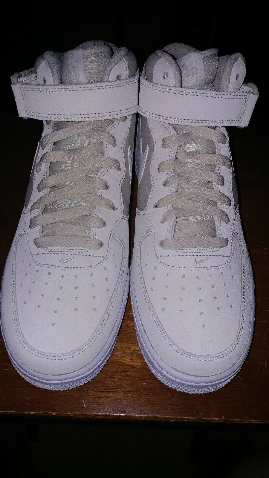 Nike Air Force 1 Mid 07 Mens 315123-034 Light Bone White Shoes Sneakers Size 10