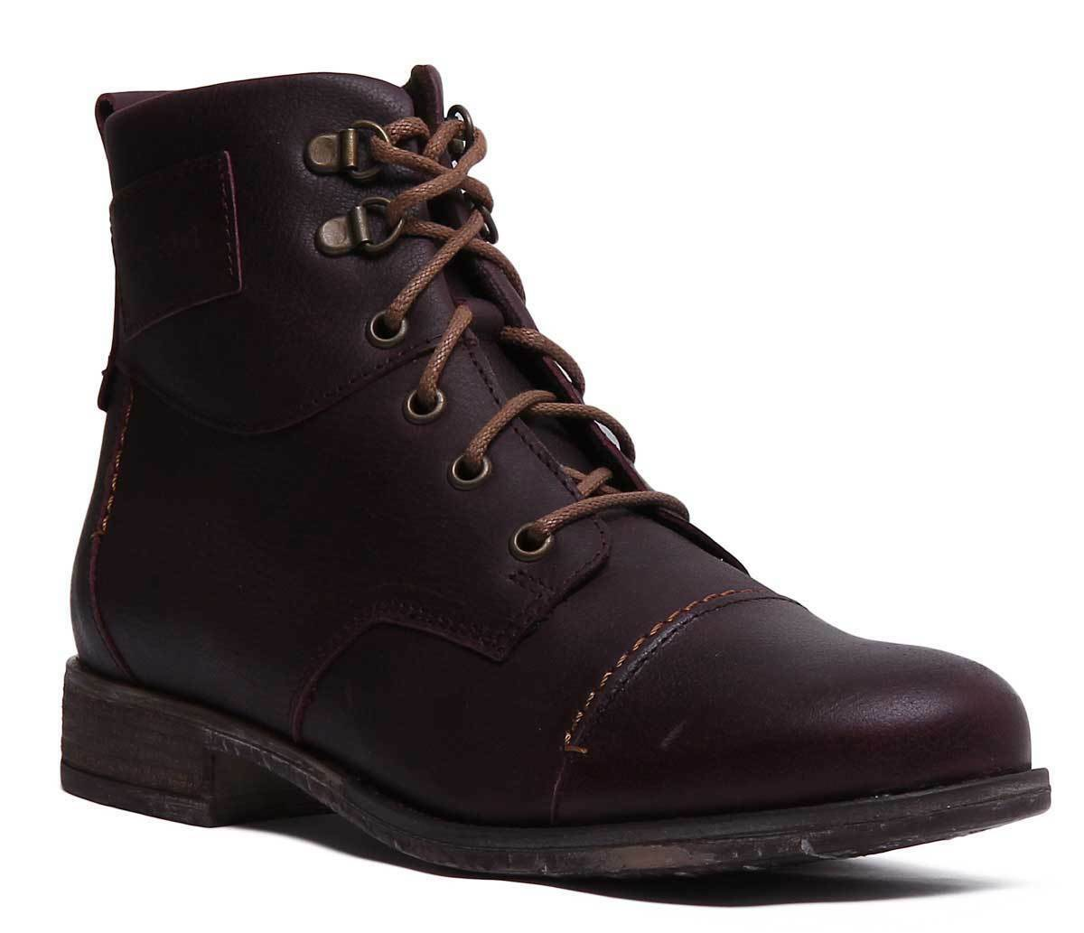Josef Seibel Sienna 17 Womens Lace up Chelsea Bordo Ankle Boots Size UK 3 - 8