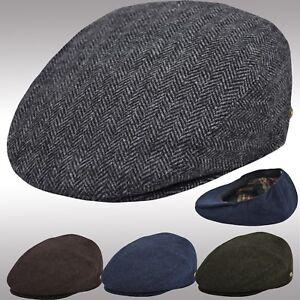 3a8e97b76f3 Image is loading Classic-Herringbone-Newsboy-Ivy-Cap-Flat-Hat-100-